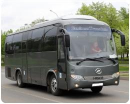 Аренда автобуса Higer с водителем в Клину